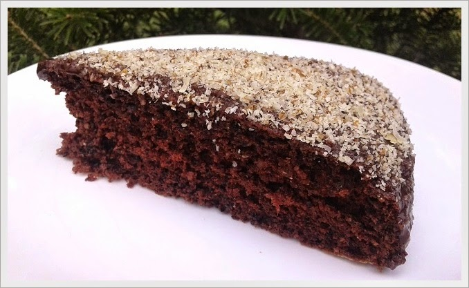 Ciasto orzechowo - kakaowe z polewą czekoladową