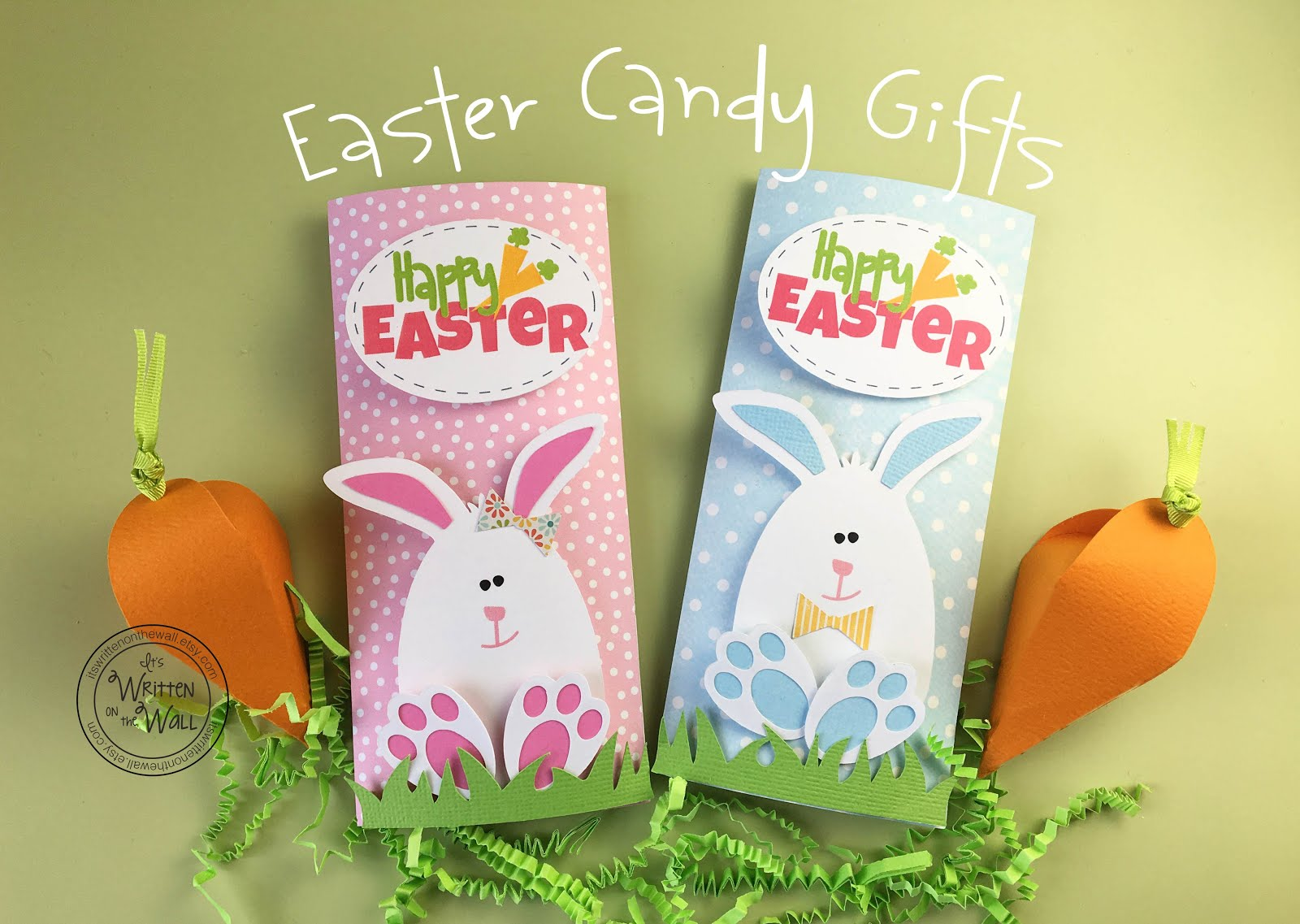 Easter Bunny Candy Bar Wrappers