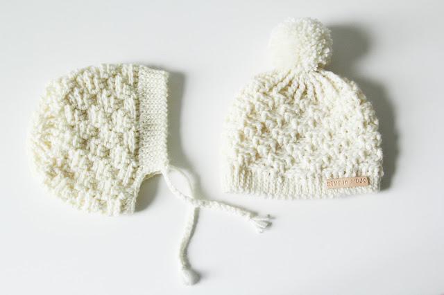 Studio Mojo, Gehaakt/ crochet, haken, bonnet, baby, muts, gratis patroon, gehaakt baby mutje, reliëfstokje, reliëfsteek, reliëf,