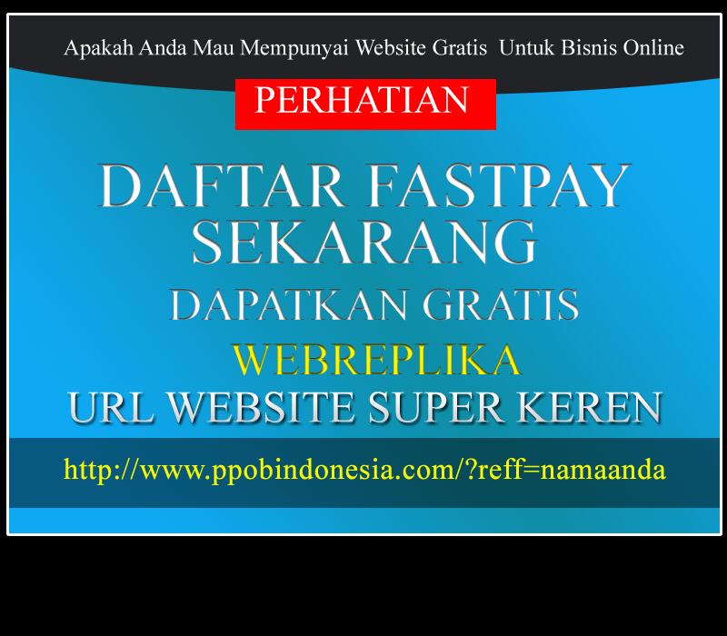 DAFTAR FASTPAY SEKARANG GRATIS WEBREPLIKA