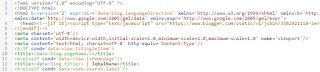 contoh tampilan meta tag