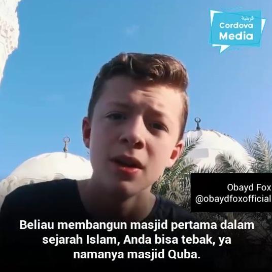 Obayd Fox, Youtuber Remaja Muslim Berdarah Inggris Yang Membuat Vlog Film-Film Islam Keren