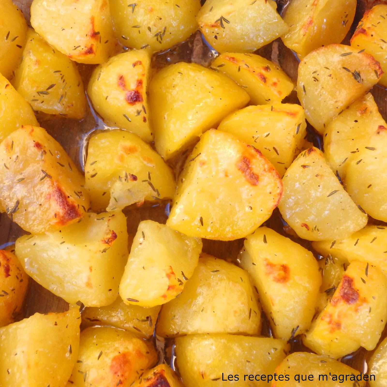 Les receptes que m 39 agraden patatas al horno para guarnici n - Patatas pequenas al horno ...