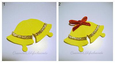 Corona Navideña Con Goma Eva Y Papel Crespón Handbox