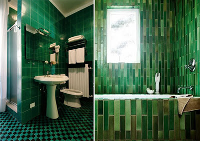 Diseo de Baos de color Verde  Varias Ideas  Diseos de