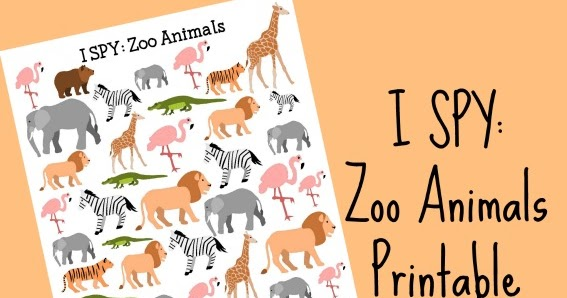 Zoo Animals I SPY Printable for Kids  School Time Snippets