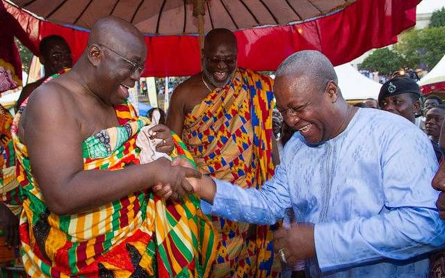Stop carrying yourself as president-elect - Mahama to Akufo-Addo