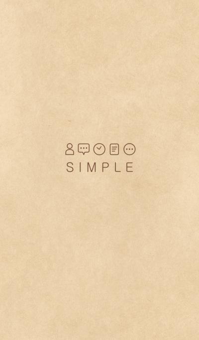 SIMPLE KRAFT(brown)b