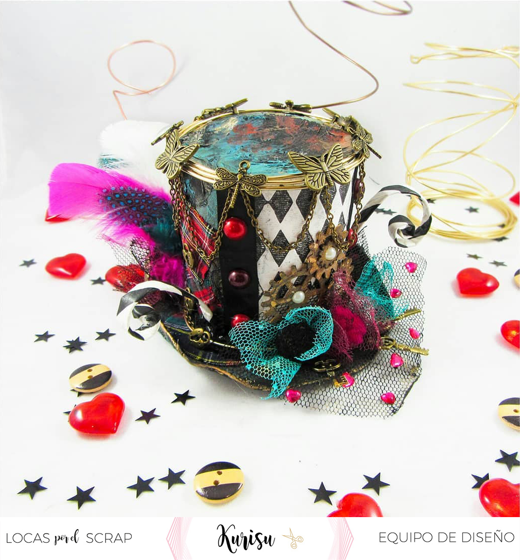 Mixed media sombrero holasoykurisu locas por el scrap