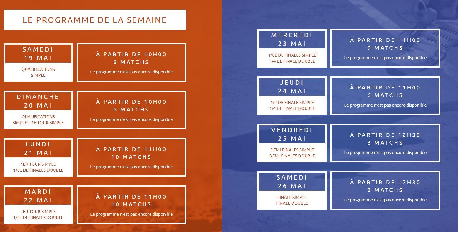 Programme 2018 Open Parc Lyon