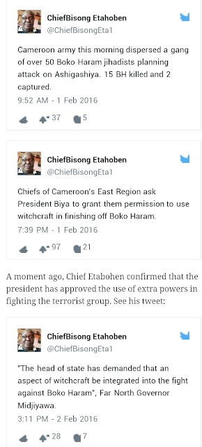 INCREDIBLE!! President Of Cameroun Paul Biya Approves The Use Of Witchcraft To Fight Boko Haram