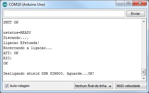 Serial Monitor - Chamada