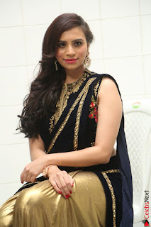 Priyanka Ramana in Beautiful Designer Black Saree At We Craft Elegance Expo Launch 001.JPG