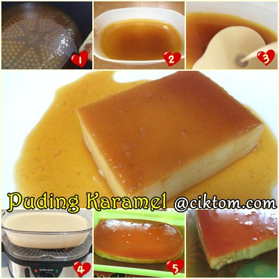 Resepi Mudah Cara Buat Puding Karamel