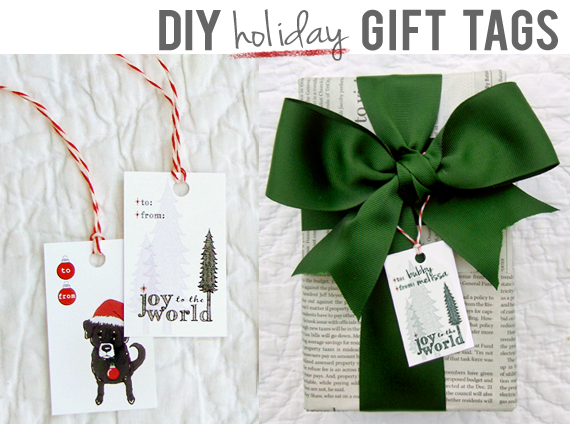 DIY Printable Gift Tags // Bubby & Bean