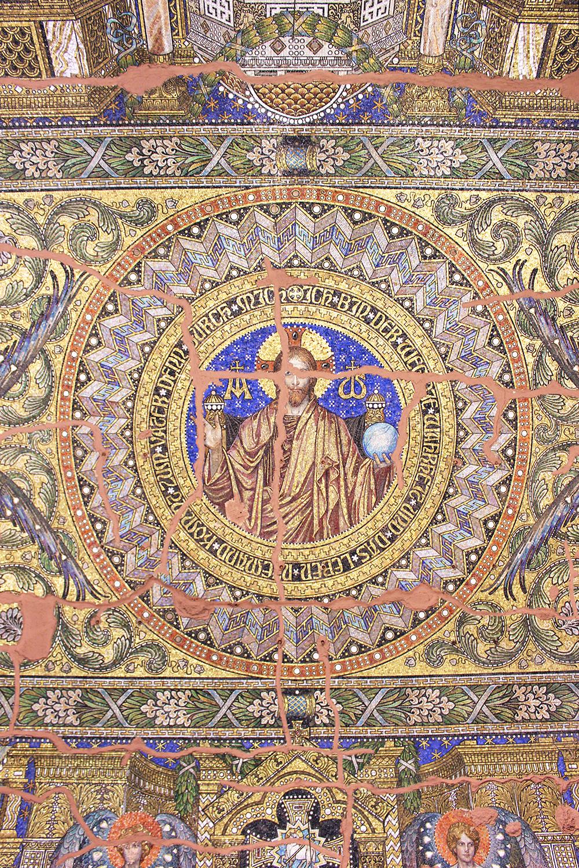 Gold mosaic tiles at the Kaiser Wilheim Memorial Church in Berlin - travel & lifestyle blog