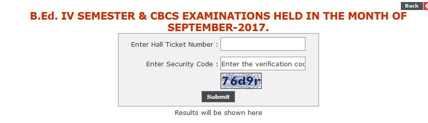 Kakatiya University KU B.Ed Exam Results 2017