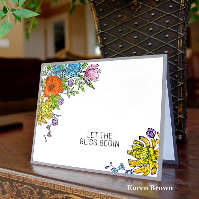 Colorplay Photoplay floral stamp