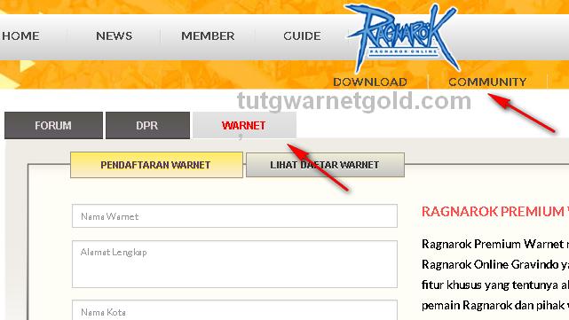 Cara Daftarkan Warnet Premium Ragnarok Online Gravindo
