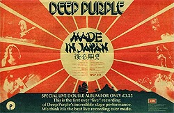 edición especial del Made in Japan de Deep Purple con vídeo