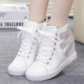 Harga Merek Sepatu Terkenal Model Sepatu Sneakers Wedges Wanita
