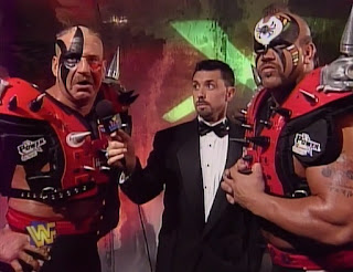 WWE / WWF - In Your House 19: D-Generation-X - The Legion of Doom called the New Age Outlaws Boogers and promised to beat them