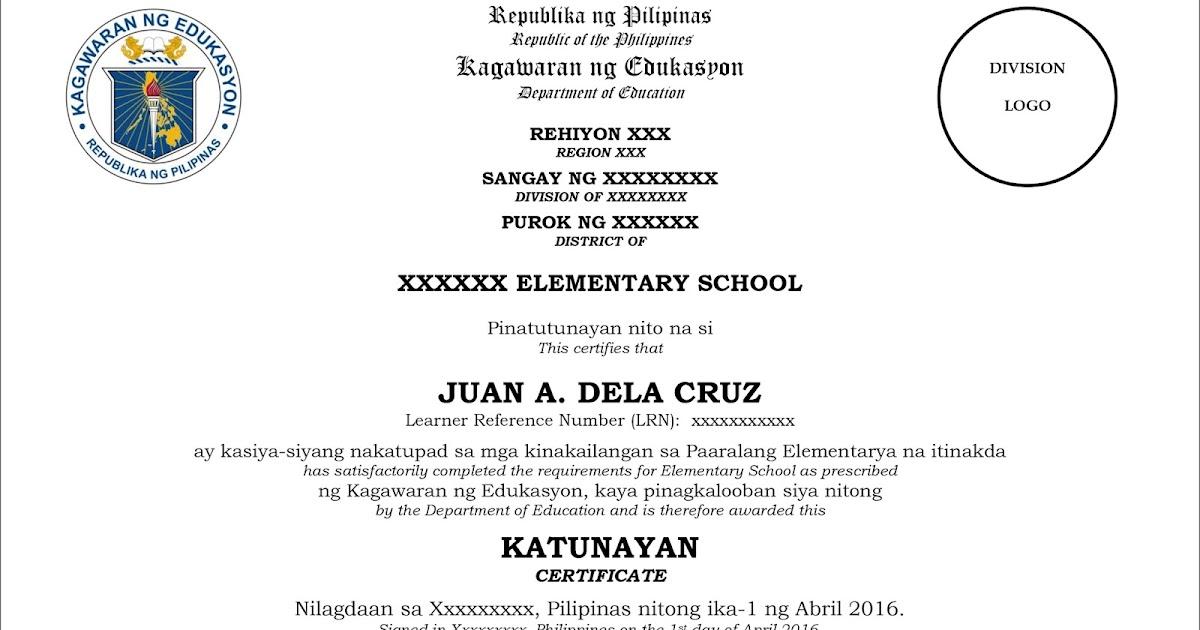 elementary graduation certificate - Minimfagency
