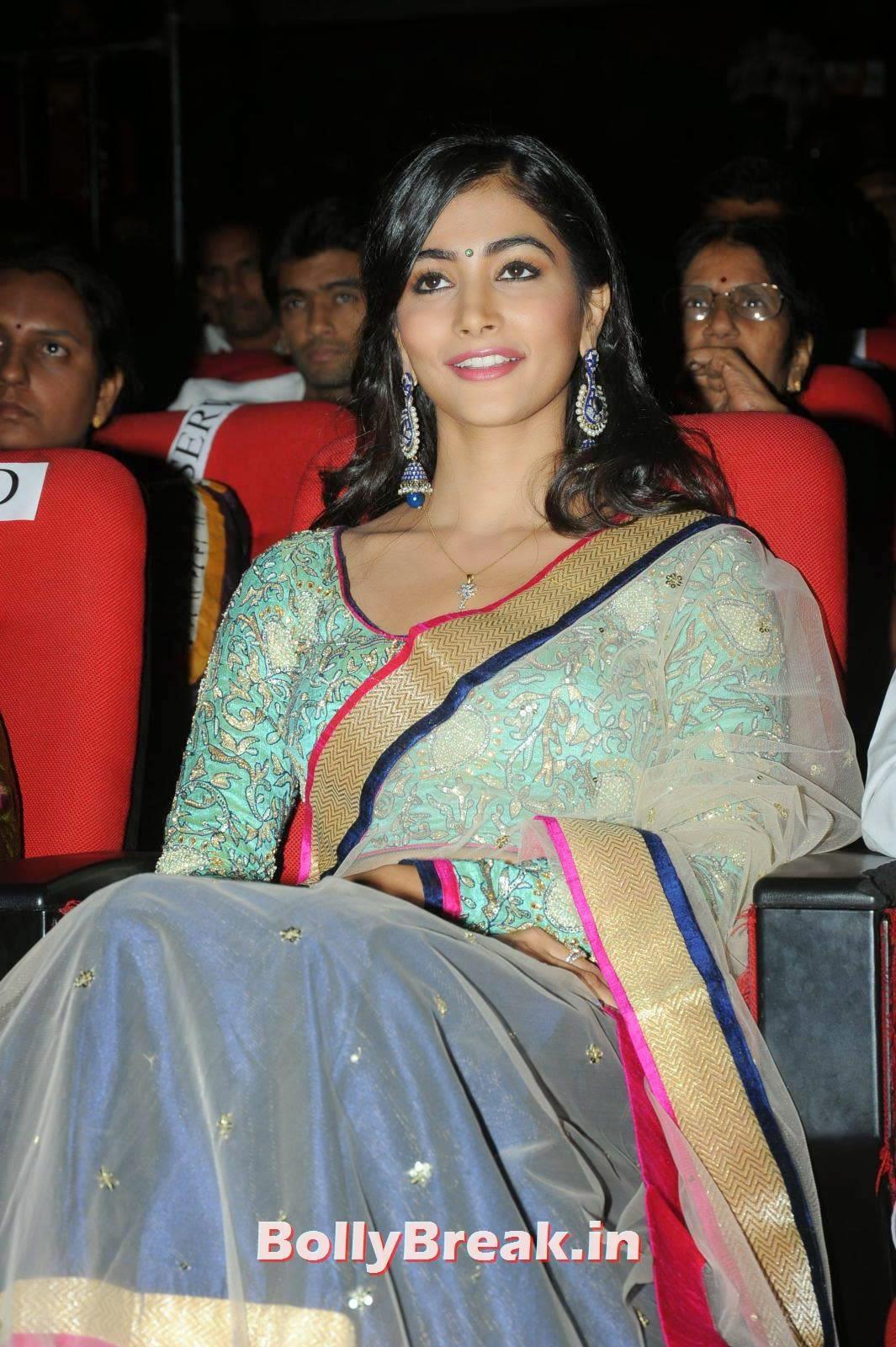 Actress Pooja Hegde Stills, hot Pics of Pooja Hegde from Mukunda Movie Audi Launch