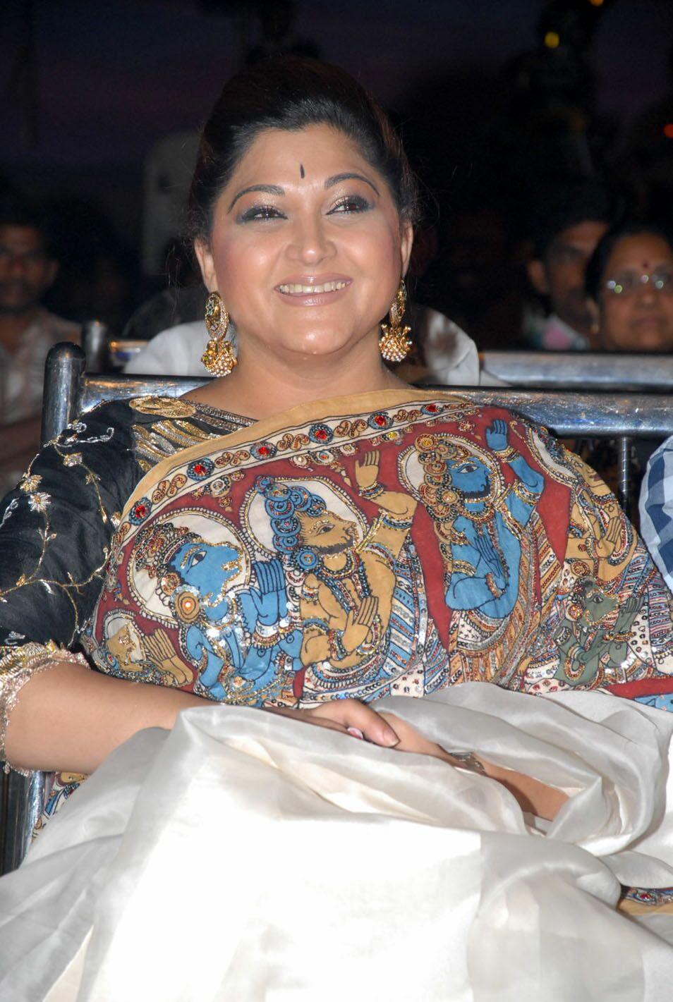 Kushboo Latest Photos In Saree Tollywood Stars
