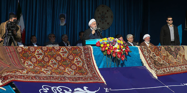 Image Attribute: Iranian President Hassan Rouhani giving a public speech during a trip to the northern Iranian city of Shahrood (Semnan province), Iran, December 4, 2018,/ Source: Official Website of Iranian President