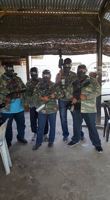 Latihan Paintball Bersama Crew B AuoSunpower