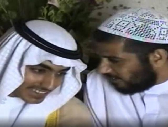 Hamza bin Laden (izquierda), en documentos difundidos por la CIA