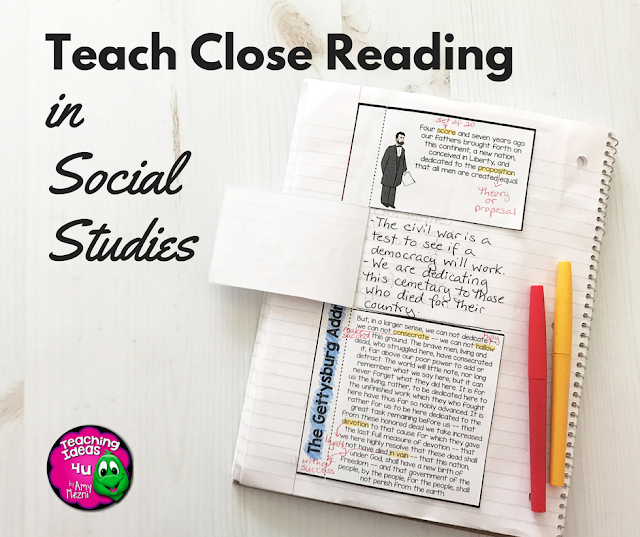 Teach Close Reading in Social Studies