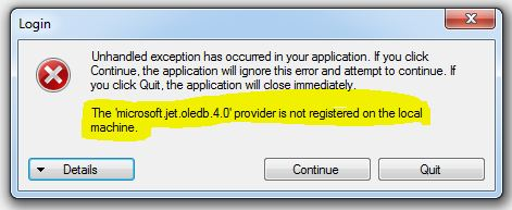 Cara Mengatasi The Microsoft.Jet.OLEDB.4.0 Provider is Not Registered on The Local Machine Pada VB .Net