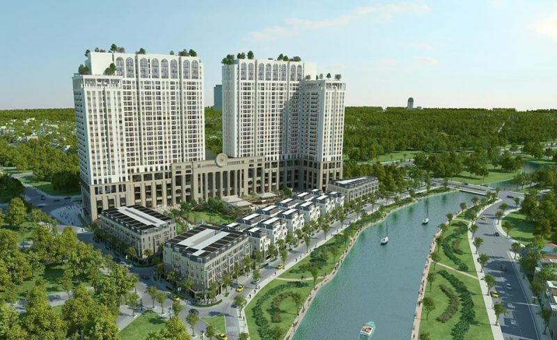 Phối cảnh dự án Roman Plaza Lê Văn Lương bên dòng sông nhuệ thơ mộng