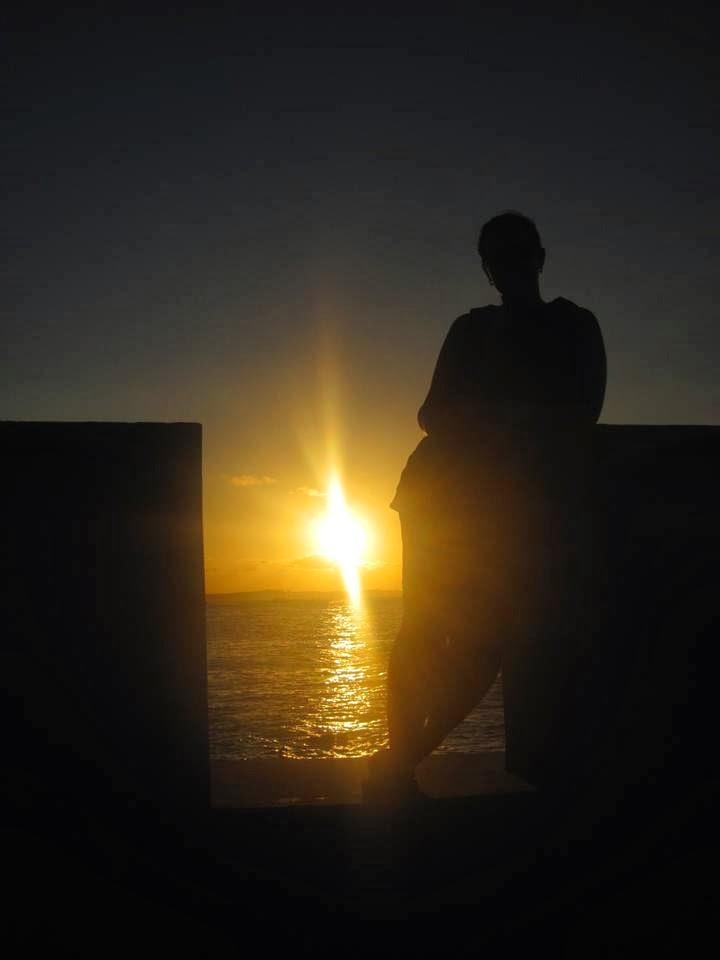 Devaneios de Biela no Morro de São Paulo_pôr do sol