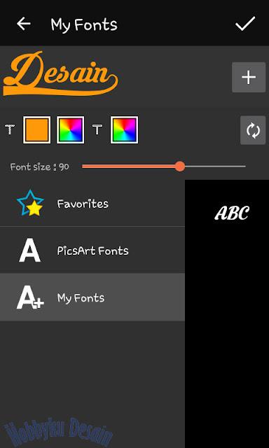 pilih font krinkess