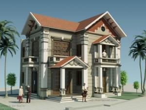 Thiết kế biệt thự 2 tầng tại Vân Canh, Từ Liêm