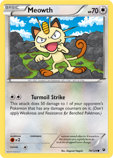 Meowth Fates Collide Pokemon Card