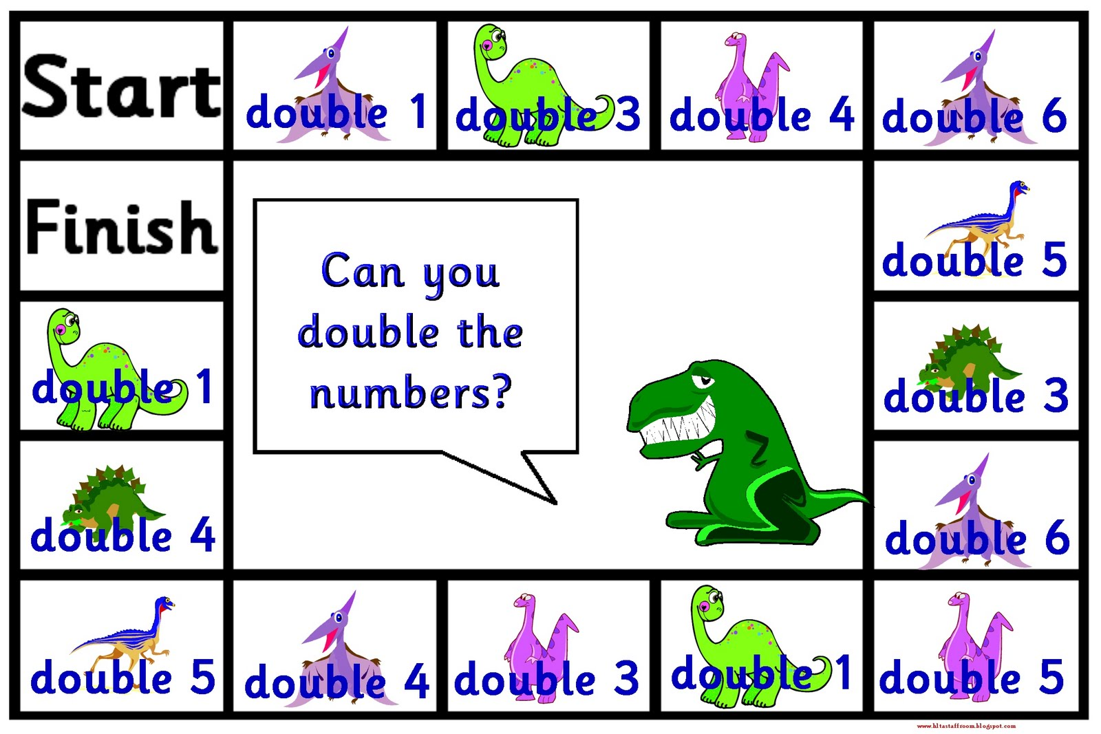 Debbie S Resource Cupboard Dinosaur Double The Number