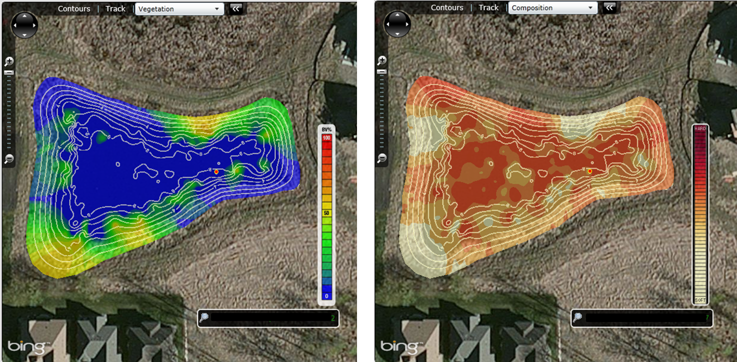 ice, pond mapping, stormwater, lowrance, .sl2, ciBioBase, Momentum