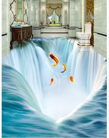 fantasy 3d floor murals for bathrooms using epoxy paint - Images Of Bathroom Floors