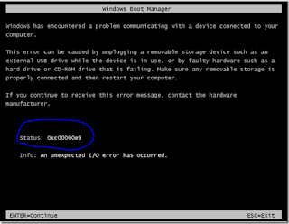 windows 7 error