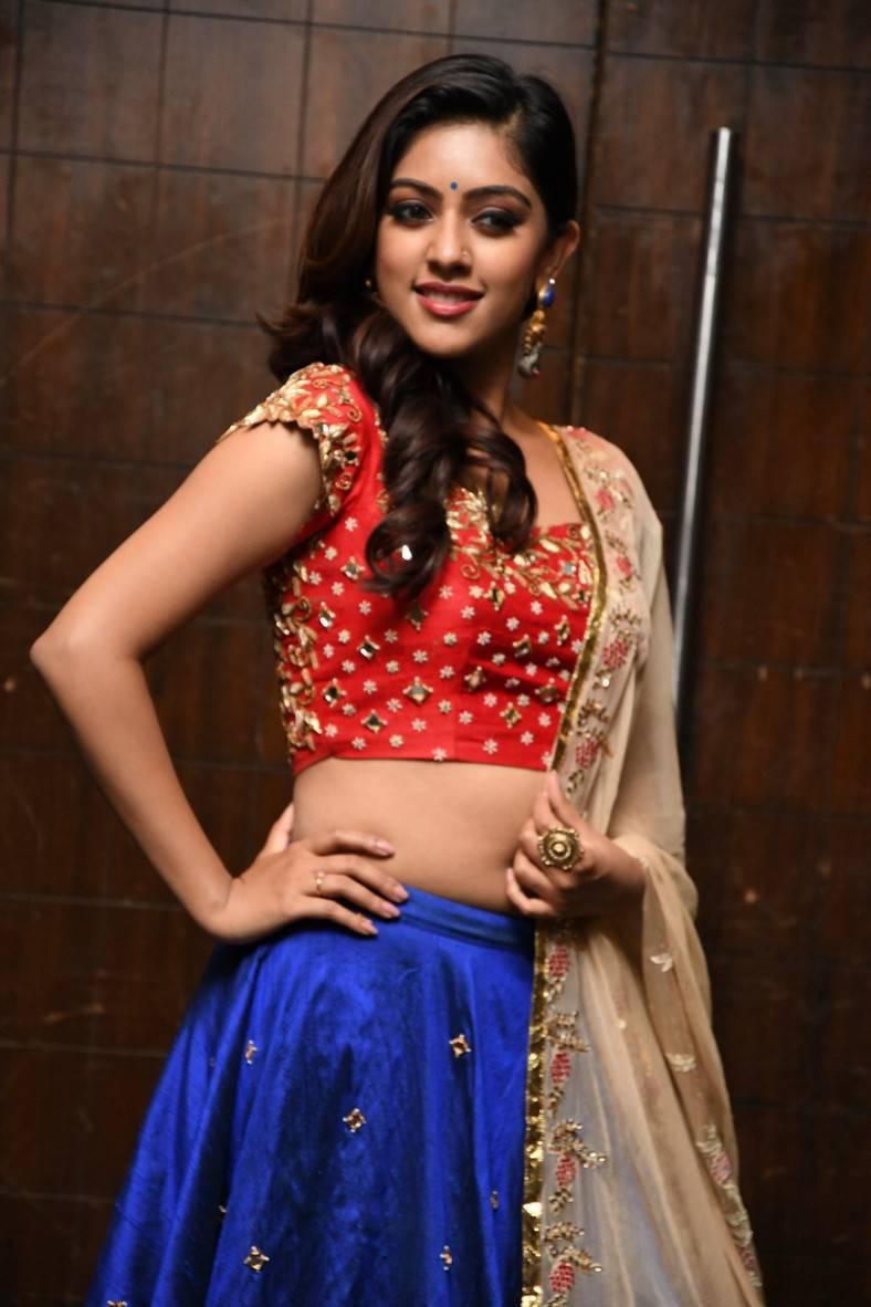 Actress Anu Emmanuel Photoshoot In Red Half Saree