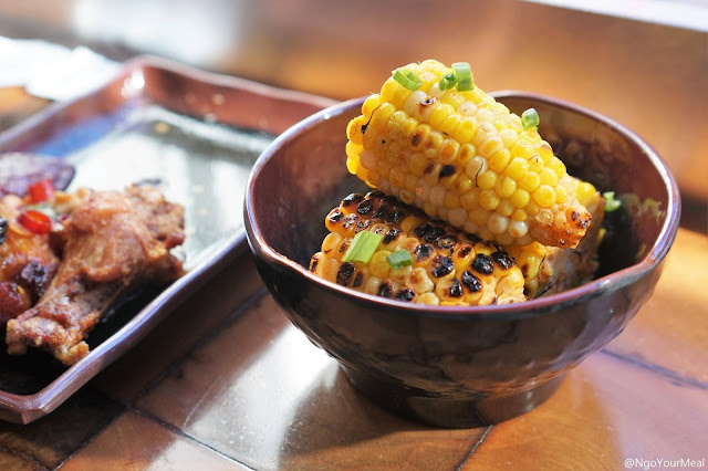 Grilled Corn with Sriracha Butter at Myers and Chang in Boston