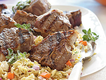Thirty minutes and five ingredients are all you need to get this fresh Lemon-Oregano Lamb Chops Menu