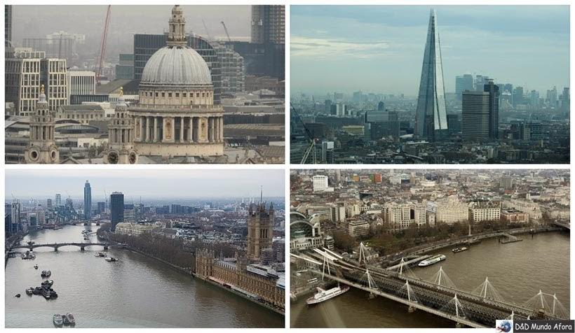 Vista do alto da Londo Eye - Diário de Bordo - 5 dias em Londres