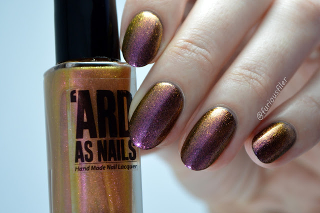 'ard as nails colour shift flakies gold fearne swatch