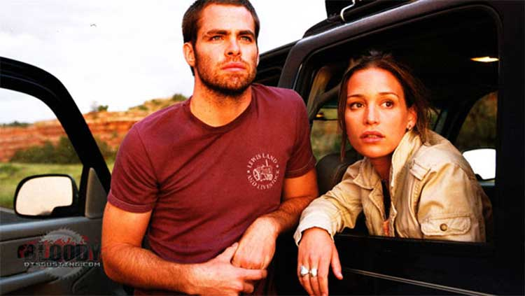 Chris Pine and Piper Perabo star in Carriers.