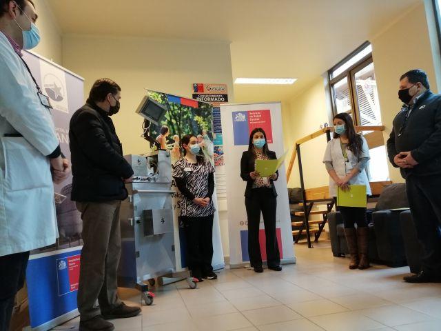 Mutual de Seguridad dona al Hospital de Osorno Ventilador fabricado 100% en Chile